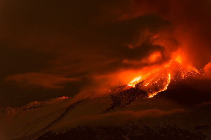 Fire In The Sky - 18th paroxysm of Etna Volcano  -New sud est crater-