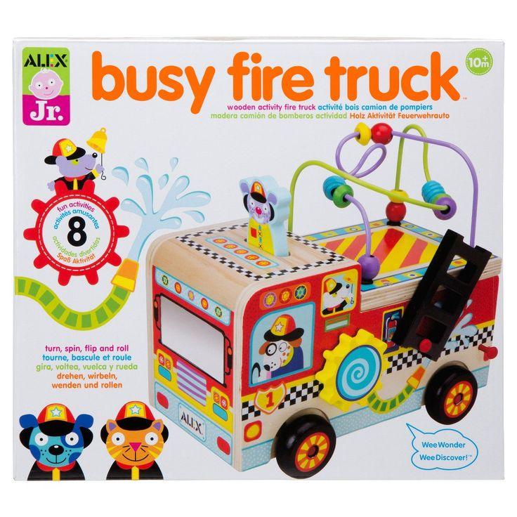 Alex Toys Alex Jr. Busy Fire Truck Wooden Activity Center
