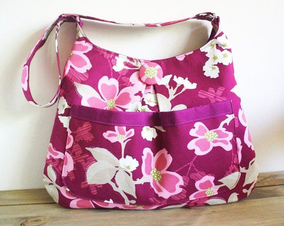 Hobo Bag Pattern Sewing PN401 Heather Hobo by SusieDDesigns Height = 28cm (11') Width = 38cm (15'') Handle Drop = 38cm (15'')