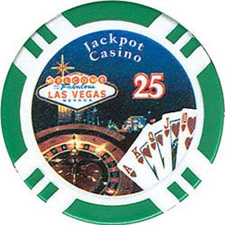 11.5-Gram Jackpot Casino Clay Poker Chips, Green