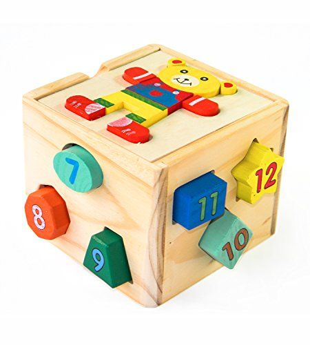 CYBER MONDAY SALE! Shape Sorter Activity Cube | Early Learning Toys for Toddlers | Eco-Friendly & Non-Toxic Wooden Sorting Box & Cube Puzzles for Kids | Educational Shape Matching Game. For price & product info go to: https://all4babies.co.business/cyber-monday-sale-shape-sorter-activity-cube-early-learning-toys-for-toddlers-eco-friendly-non-toxic-wooden-sorting-box-cube-puzzles-for-kids-educational-shape-matching-game/