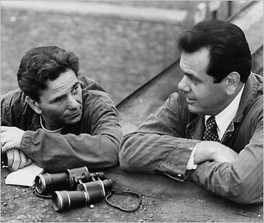 (1978) Peter Falk as Tony Pino and Paul Sorvino as Jazz Maffie, in 'The Brink's Job'.