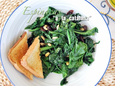 Catalunya-style spinach