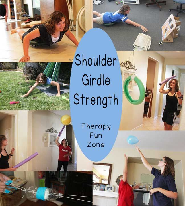 The shoulder girdle is very important in the functioning of the arms and the hands. In order to use your hands efficiently, you need to have strong, stable shoulders for your arms to work off of. Kids need to be able to easily reach up against gravity and to reach out for objects. It is hard to control what your hand is doing when you can't control your shoulder very well, so I am going to share some of my {Read More}