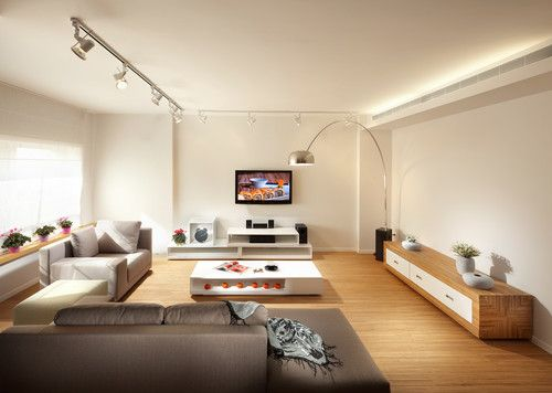Living Room Track Lighting Design