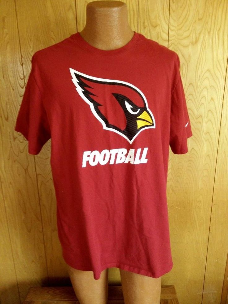 Arizona Cardinals NFL Nike Tee Mens Size 2XL Athletic Cut  Red 100% Cotton #Nike #GraphicTee #ArizonaCardinals