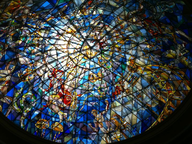 Stain Glass Ceiling in The Hotel Jardines de Nivaria, Tenerife
