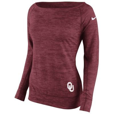 Nike Oklahoma Sooners Women's Crimson Warp Epic Sweatshirt