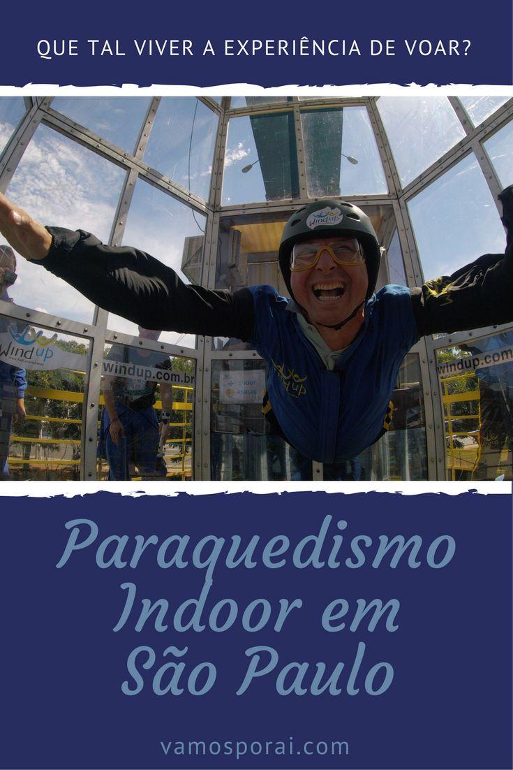 Em São Paulo crianças a partir de 5 anos já podem viver a experiência de voar. Basta reservar um horário no Wind UP e praticar o  Paraquedismo Indoor
