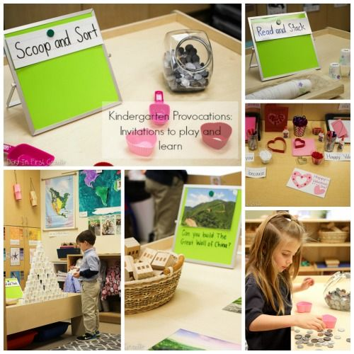 Using Provocations In Your Kindergarten Classroom (A day in first grade)