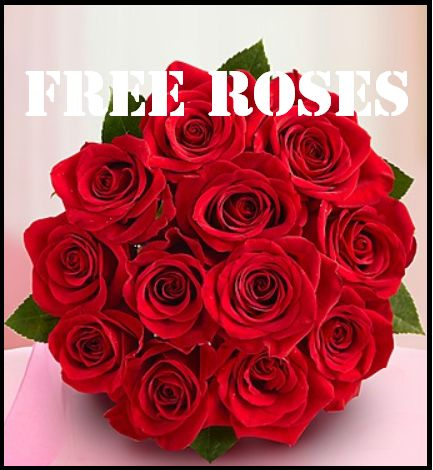 FREE One Dozen Red Roses! Just Pay Shipping!
