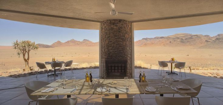 Panoramic Namib desert views from Sossusvlei Desert Lodge #luxurytravel #namibia
