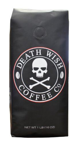 Death Wish Coffee, The World's Strongest Coffee, Fair Trade, Organic, Whole Bean, 16 Ounce Bag - http://teacoffeestore.com/death-wish-coffee-the-worlds-strongest-coffee-fair-trade-organic-whole-bean-16-ounce-bag/