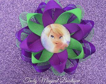 Tinkerbell Inspired Hair Bow Tinkerbell by ThePurpleLadybug1