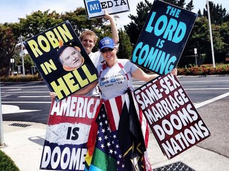 Robin Williams dead: Westboro Baptist Church could picket actor's funeral after saying he was 'hated by God' and is 'in hell'......scum bags of the earth!