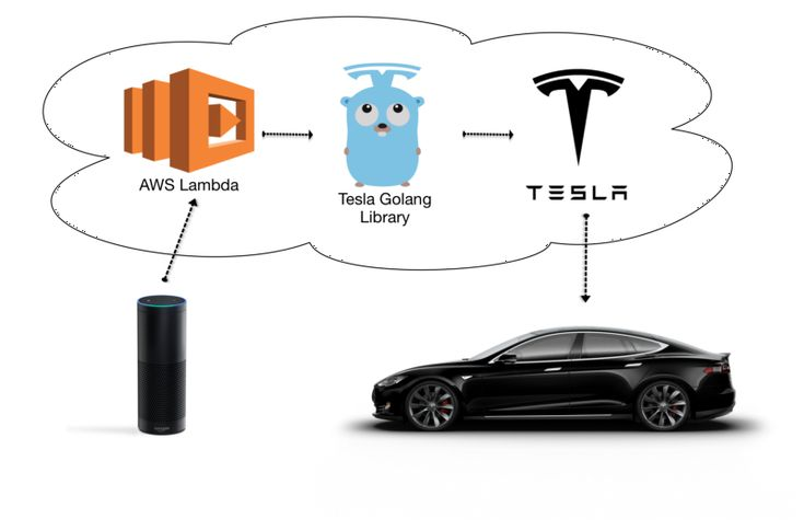 Tesla-API-AWS-Amazon-Echo-Infra