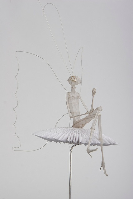 Wire and Paper Sculpture: Psyche