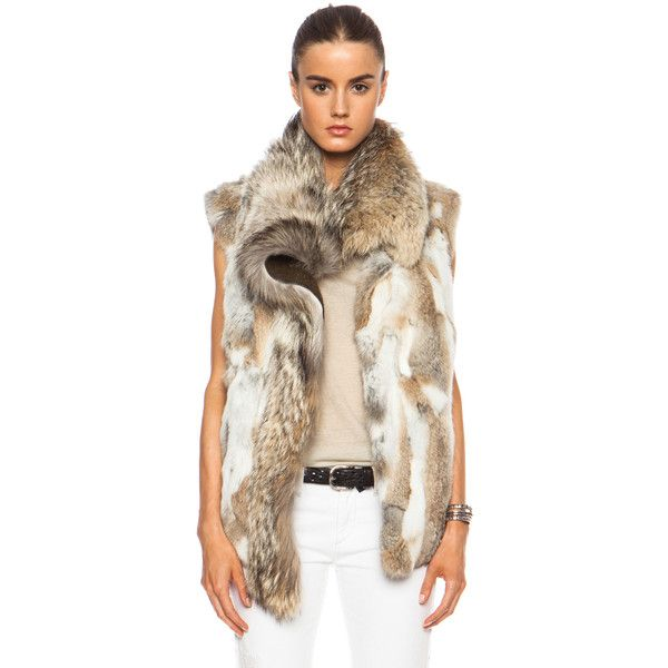 Isabel Marant Astia Steppe Fur Vest ($2,631) ❤ liked on Polyvore featuring outerwear, vests, other outerwear, fur vest, fur waistcoat, isabel marant vest, vest waistcoat and brown vest