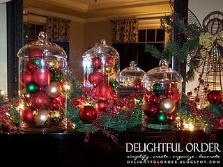 Glass jars filled with Christmas balls: Christmas Time, Christmas Crafts, Holidays Ideas, Glasses Jars, Christmas Ball, Christmas Decor, Christmas Ornaments, Christmas Ideas, Ornaments Glasses