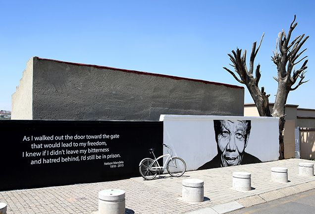 Embark on a bicycle tour through Soweto, where Nelson Mandela lived and Archbishop Emeritus Desmond Tutu still has a house.