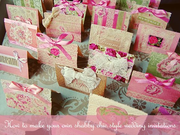 How To Create Your Own Shabby Chic Style Wedding Invitationsu2026