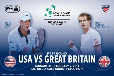 The U.S. Davis Cup Team will face Great Britain at the Davis Cup First Round taking place at Petco Park January 31-February 2, 2014