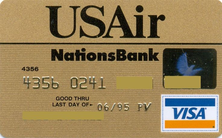 USAIR VISA gold (NationsBank, United States of America) Col:US-VI-0377