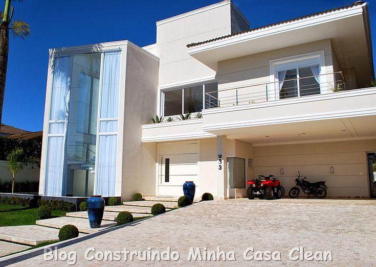 Construindo Minha Casa Clean: Fachadas de Casas com Paisagismo Moderno!