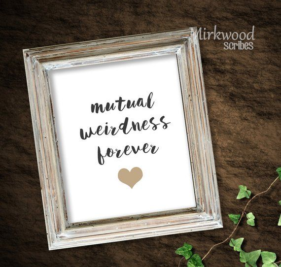 Mutual Madness Forever Print | Instant Download 8×10 | Geek Wedding Gift | Wedding Sign for Nerds | Geeky love