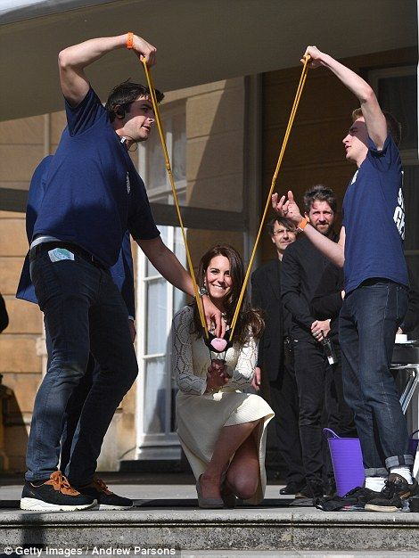 Kate helped out children's entertainers Sharky and George, who wowed the crowds with an en...