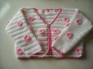 Te schattig kindervestje. Gratis patroon! Lovely cardigan for a girl. Free pattern!