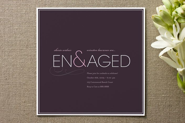 modern engagement party invite