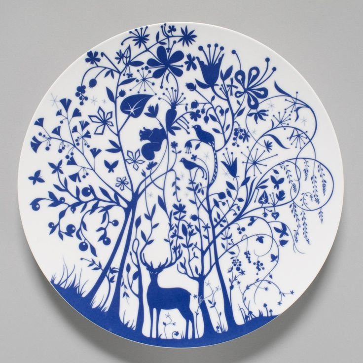 """Deer in Forest"" Plate   Designed by Tord Boontje, Dutch, born 1968."