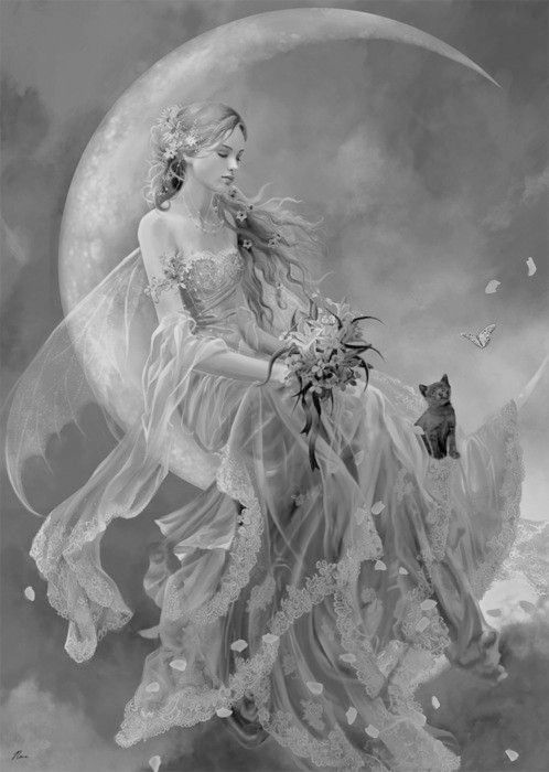 144 best Fairy Grayscale Coloring images on Pinterest