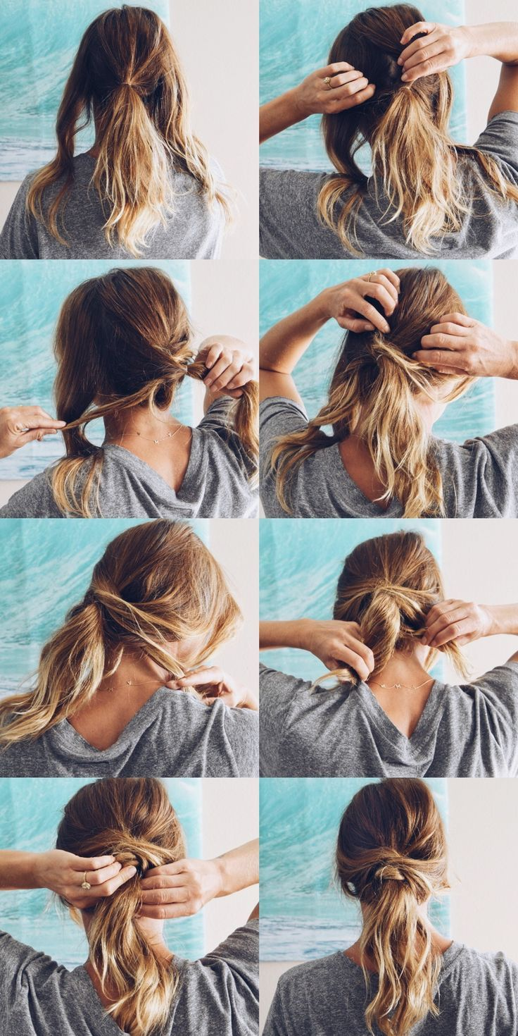 Here S A Super Easy Twisted Looking Low Messy Pony Goldfish Kiss Low Ponytail Hairstyles Cute Messy Hairstyles Ponytail Hairstyles