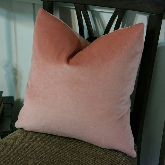 High End Designer Throw Pillows Part - 34: Nectar Coral Pink Velvet Pillow Cover, Both Or One Sided Pillow Cover, High  End Designer Pillow, Accent Pillow, P/Kaufmann Obsession