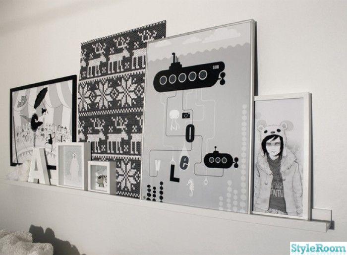 ribba van ikea schilderijenplanken !!! kunst aan de muur