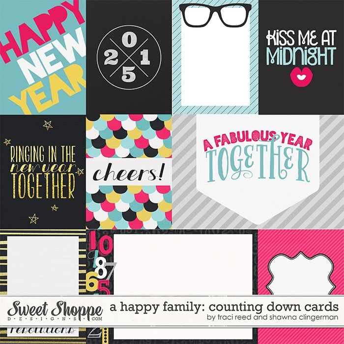 A Happy Family: Counting Down Cards by Traci Reed and Shawna Clingerman at Sweet Shoppe Designs