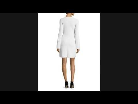 Cheap Price Theory Ardesia Prosecco Directional-Rib Sweater Dress