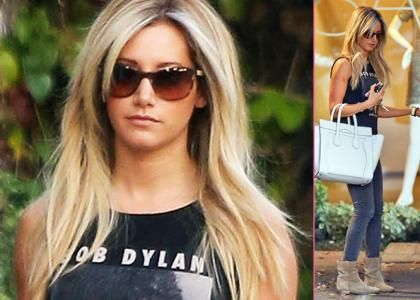 """Ashley Tisdale's Andy Lecompte Salon Stop -                                     Stepping out to get her hair done,  Ashley Tisdale headed to the Andy Lecompte Salon in West Hollywood on Monday (January 7).  The """"High School Musical"""" star looked cute"""