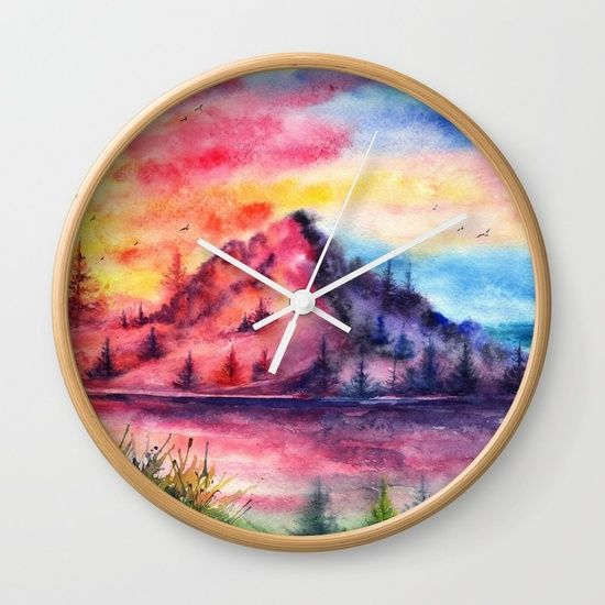 Mountain Wall Clock
