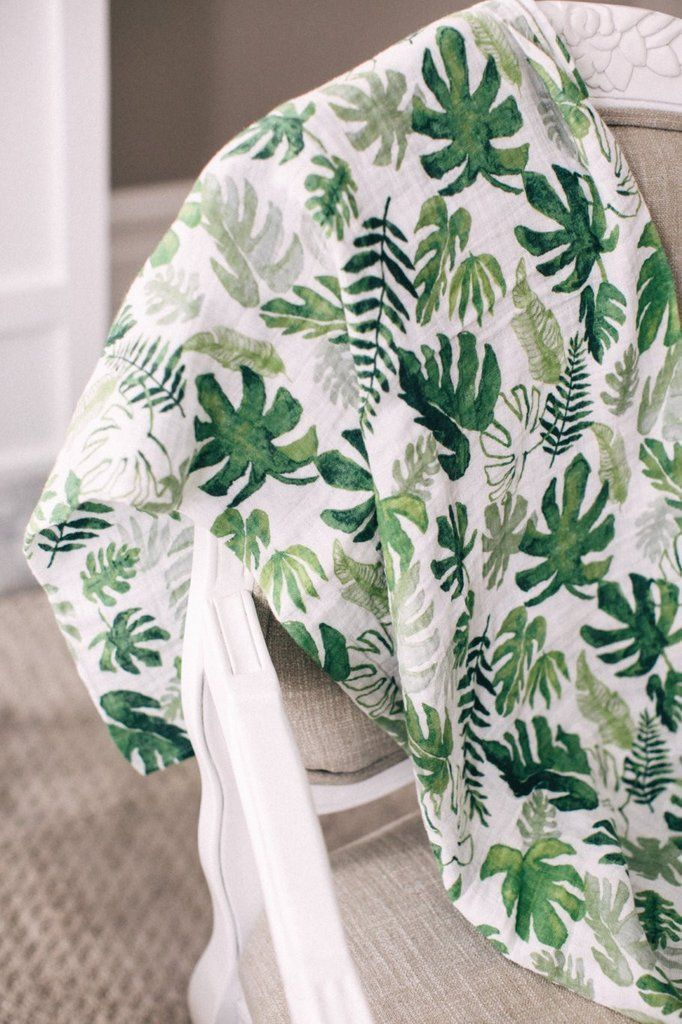Project Nursery Little Unicorn Tropical Leaf Swaddle