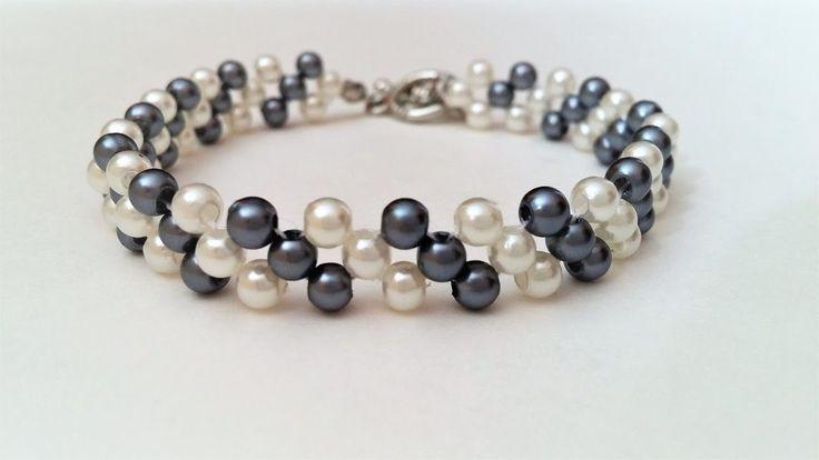 Easy Beading Pattern for Beginners. Mother's Day DIY Bracelet