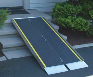 Portable wheelchair ramps can handle heavy weight capacities have many uses.