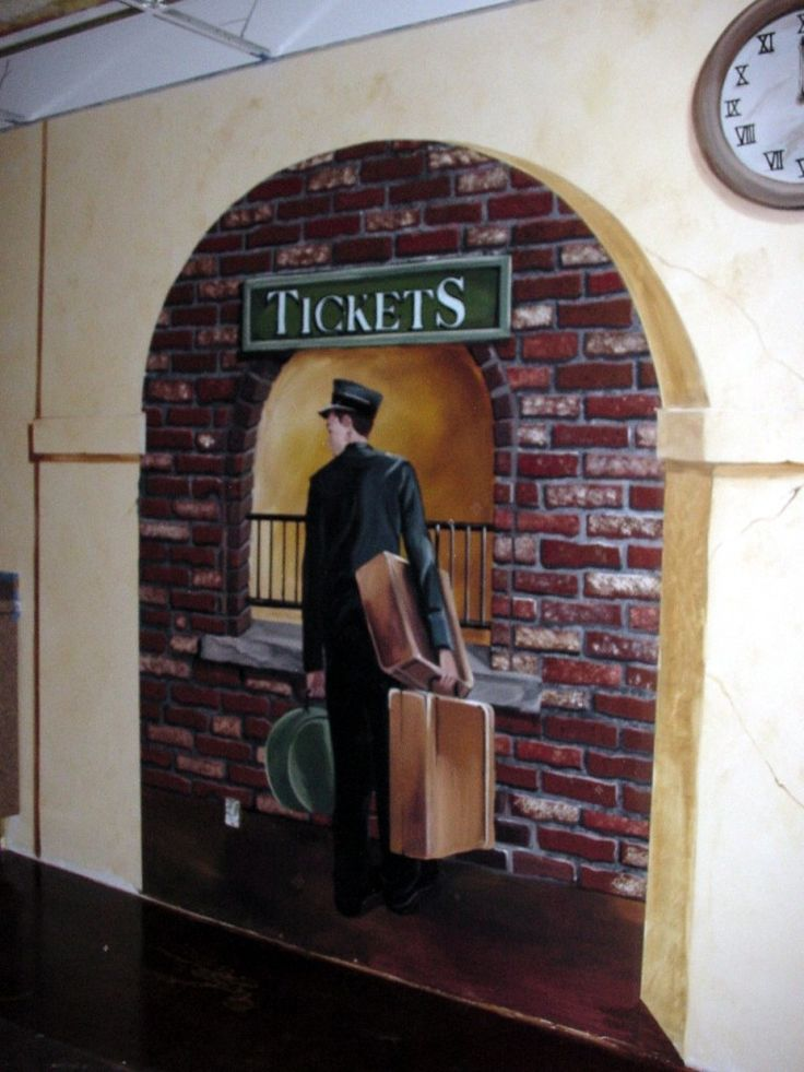 Train Themed Resaurant, Painted By Paula Litchfield. Paula Is The Owner And  Muralist For