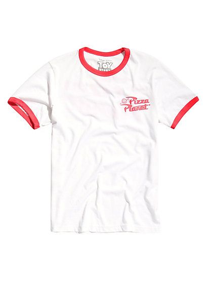 Disney Toy Story Pizza Planet Ringer T-ShirtDisney Toy Story Pizza Planet Ringer T-Shirt, WHITE
