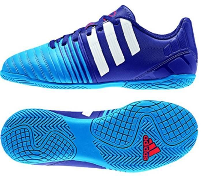 adidas JR Nitrocharge 4.0 IN Indoor Youth Soccer Football Shoes Purple/Blue/Whit #adidas #SoccerFootballBoots