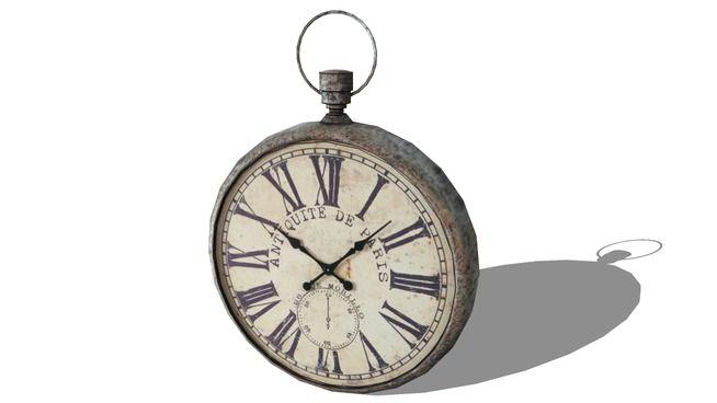 horloge, Maisons du monde. Réf: 129.970 Prix:179€ - 3D Warehouse