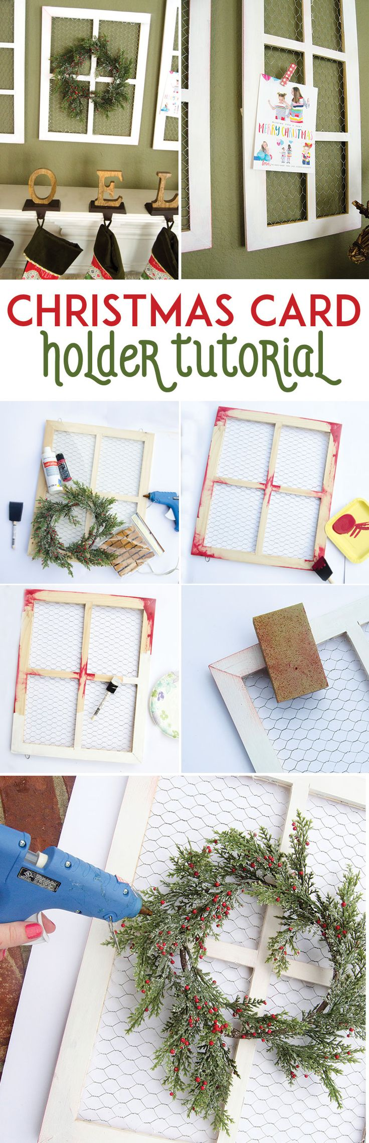 Christmas Card Holder Tutorial by MichaelsMakers Lindi