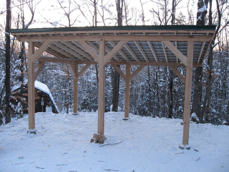 Timber frame carport plans timber frame post and beam for Post and beam shed plans